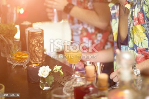 istock Barman is making cocktails during the party 933167016