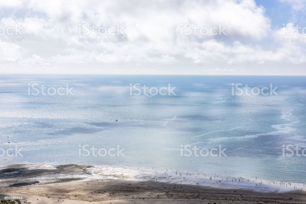 Barmouth beach and sea, Wales stock photo