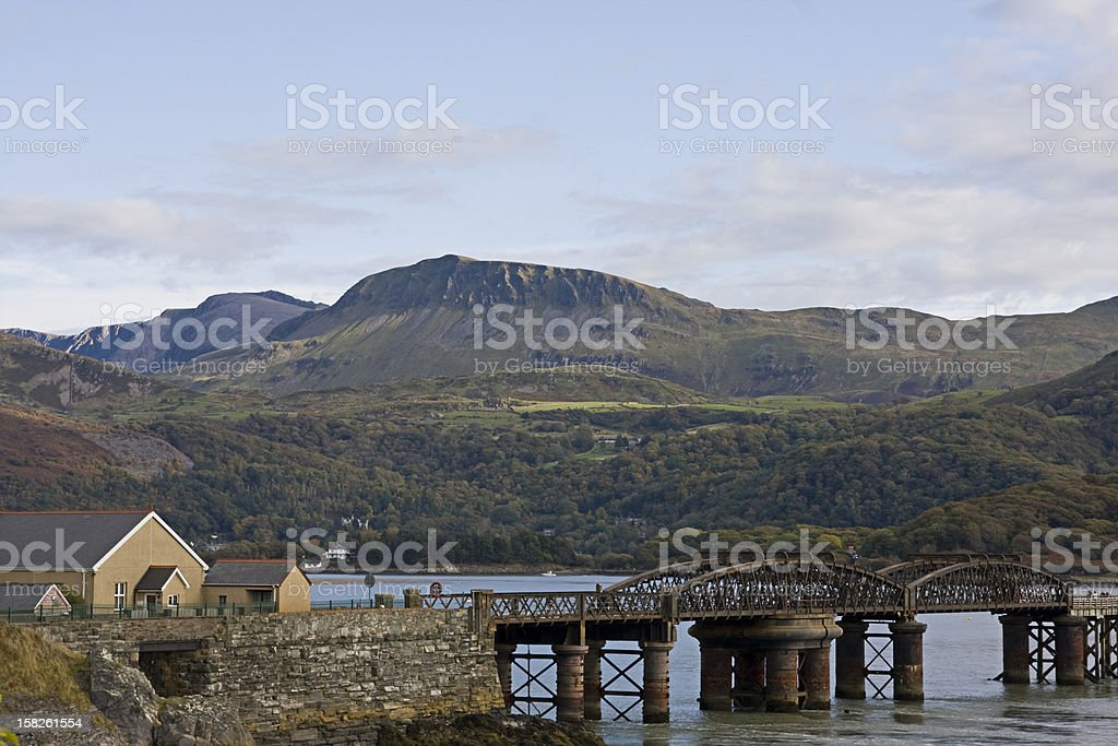Barmouth Bridge stock photo