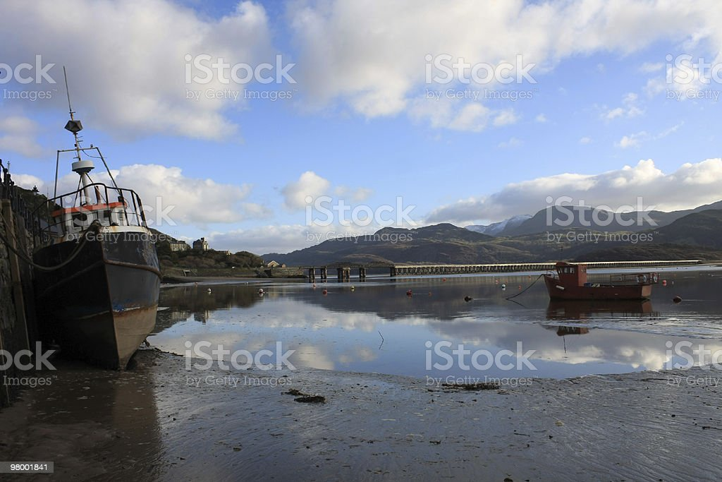 Barmouth Harbor royalty-free stock photo