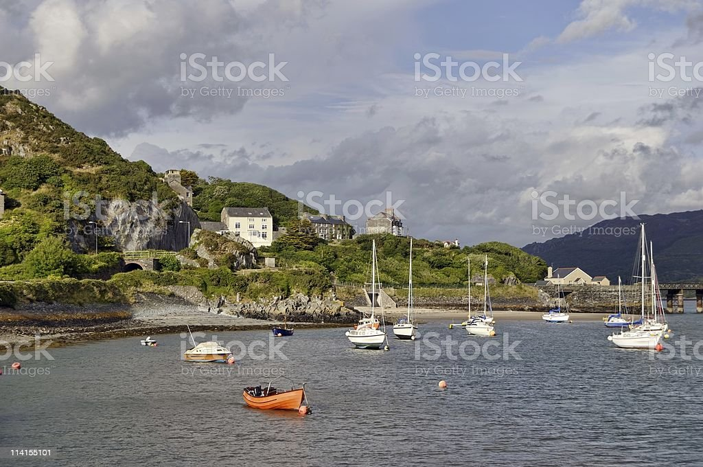 Barmouth Harbour royalty-free stock photo