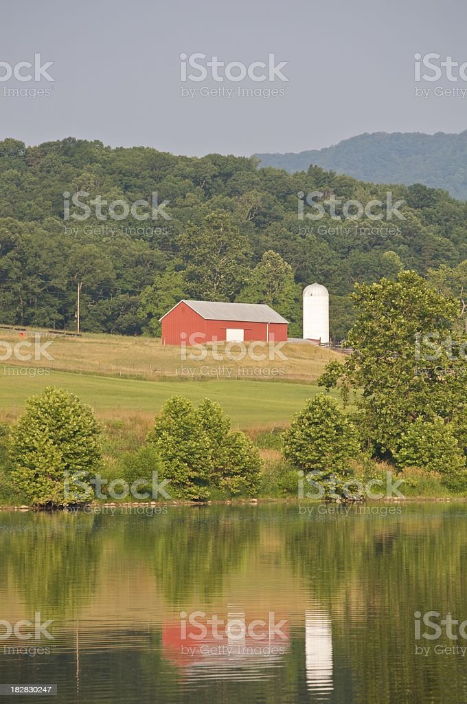 barn and silo stock photo