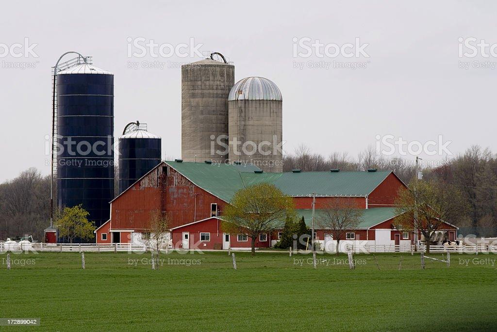 Barn and Silos royalty-free stock photo