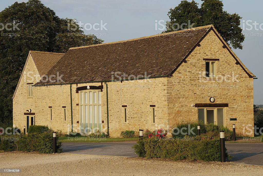 Barn converted into office building stock photo