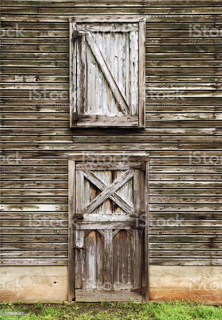 barn door and loft stock photo