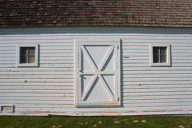 Barn door #2 stock photo
