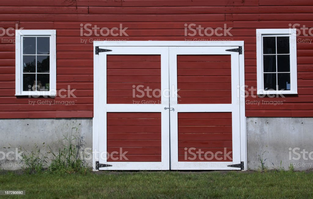 barn doors royalty-free stock photo