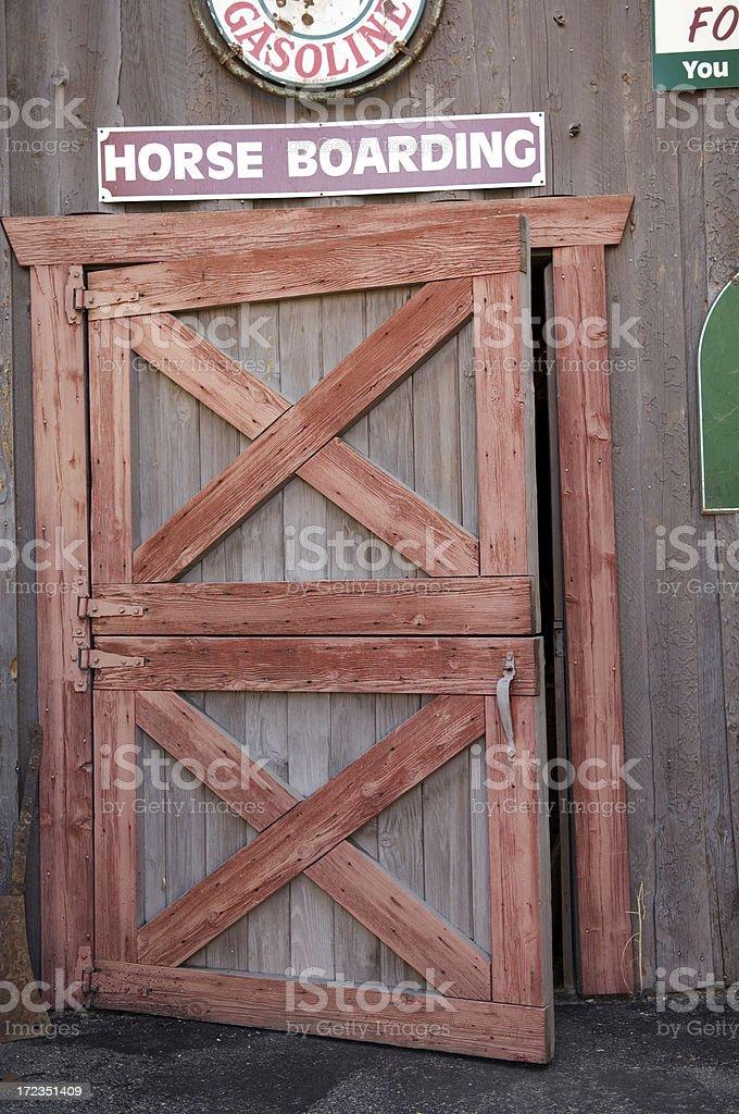 Barn puertas foto de stock libre de derechos