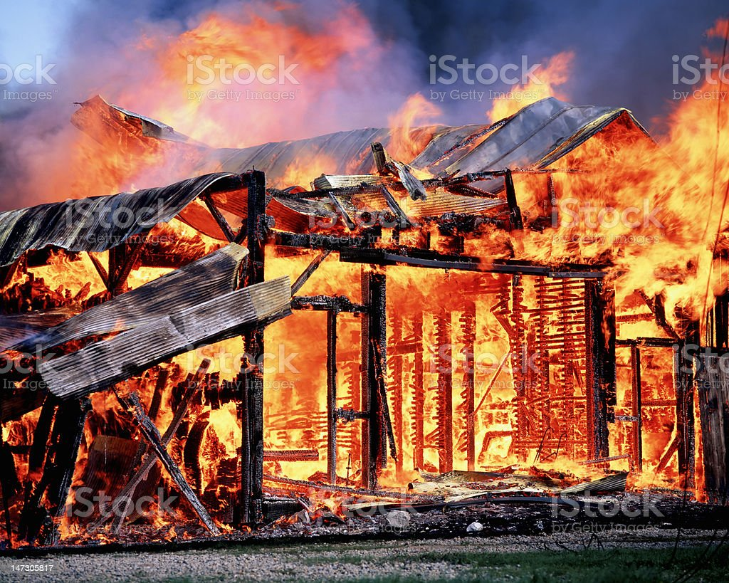 Barn for pyros. stock photo