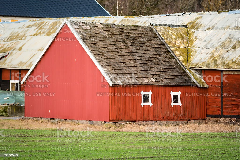 Barn gable stock photo