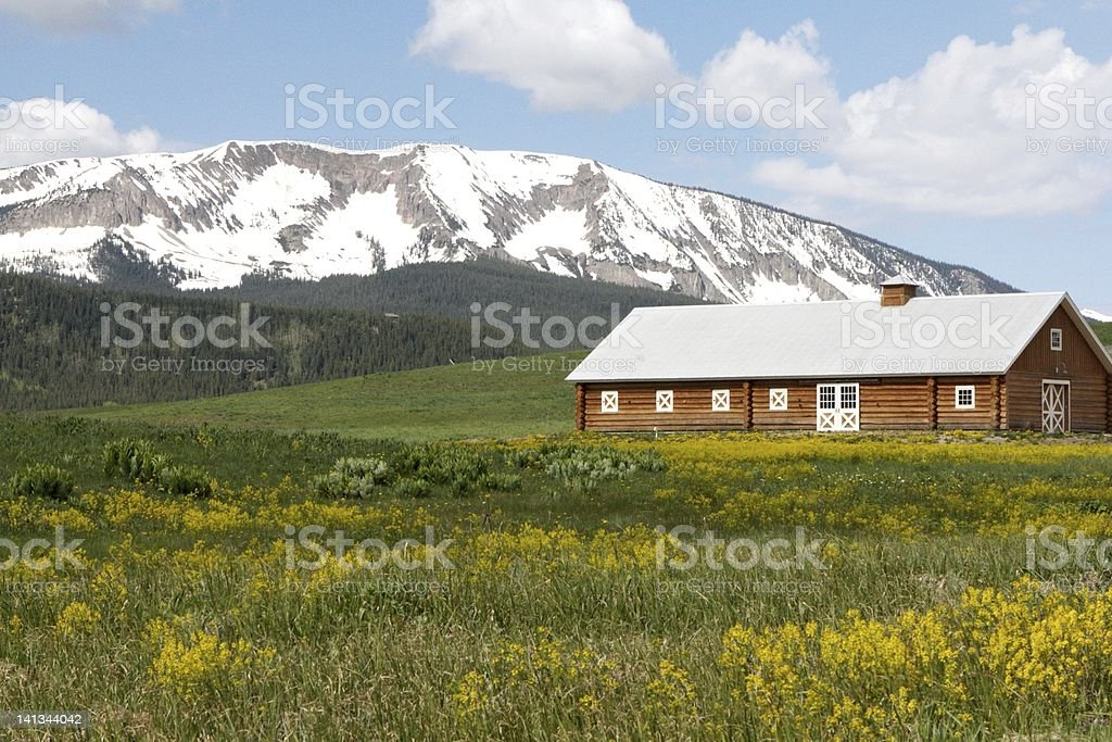 Barn in Aspen Colorado stock photo