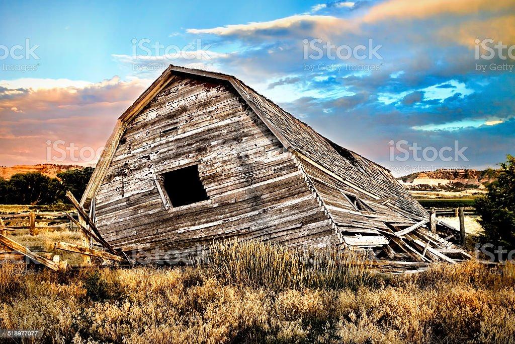 Barn in Ruins stock photo