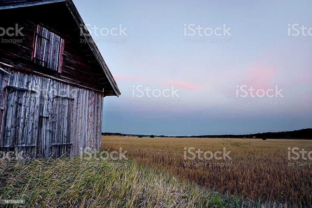 barn in rural landscape royalty-free stock photo