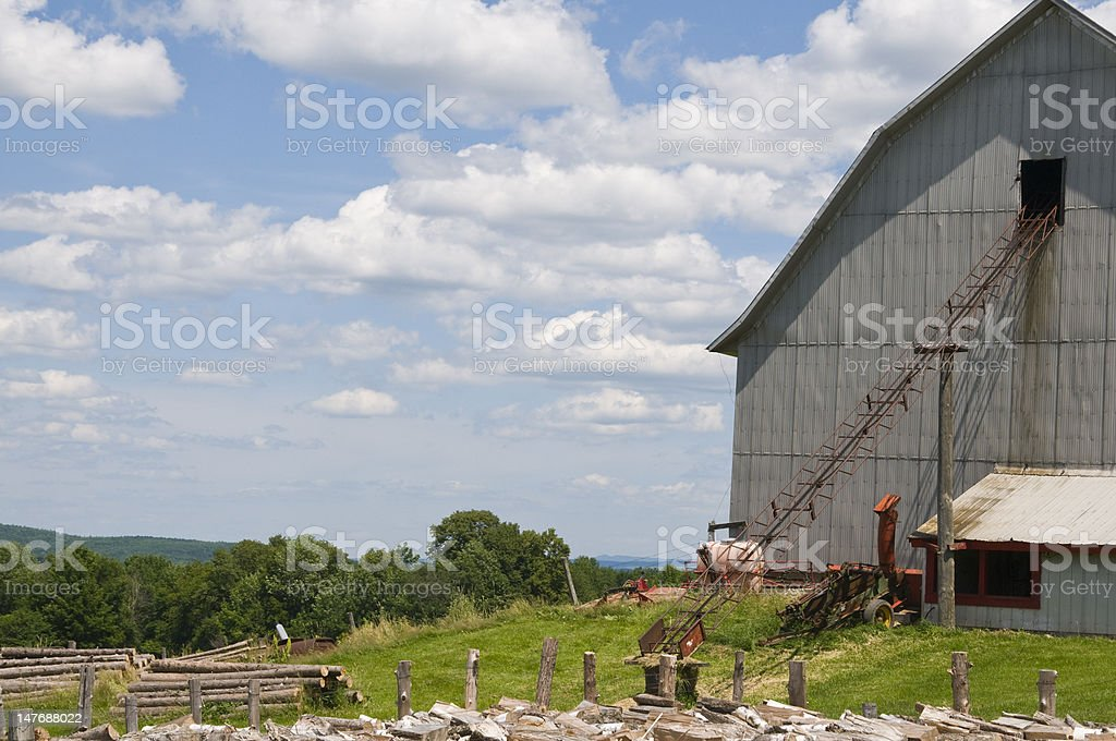 Barn in Sutton Quebec stock photo