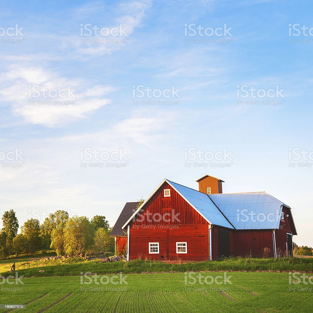 Barn in Sweden stock photo