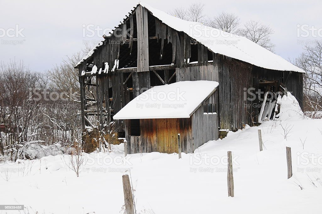 Barn in Winter royalty-free stock photo