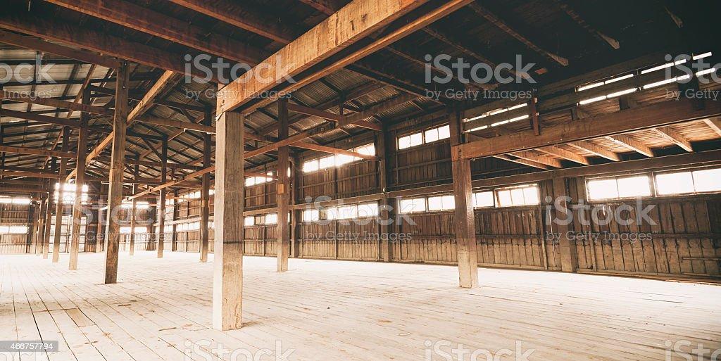Barn Interior stock photo