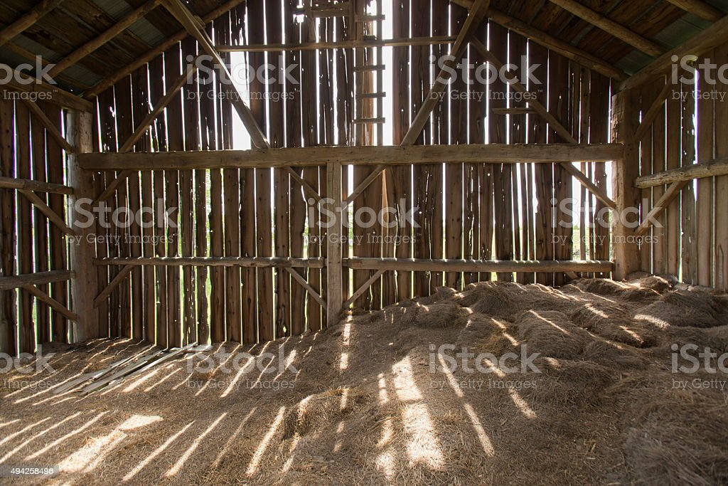 Barn Interior stock photo