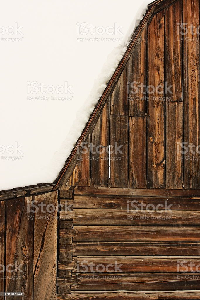 Barn Log Plank Agriculture Building royalty-free stock photo