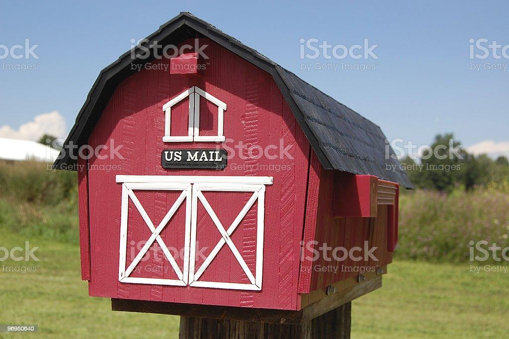 Barn Mailbox royalty-free stock photo