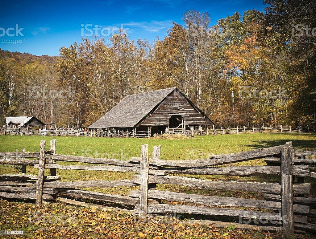 Barn, Oconaluftee, Great Smoky Mountain National Park, North Carolina, USA stock photo