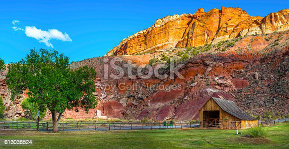 Panoramic view of Capital Reef National Park Utah