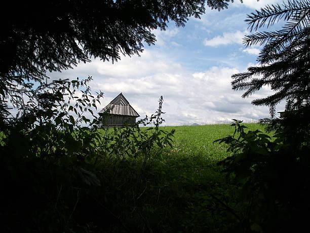 Barn on a farm stock photo