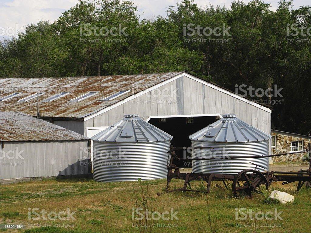Barn Silo Farm royalty-free stock photo