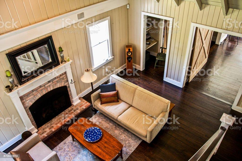 Barn Style Living Room stock photo