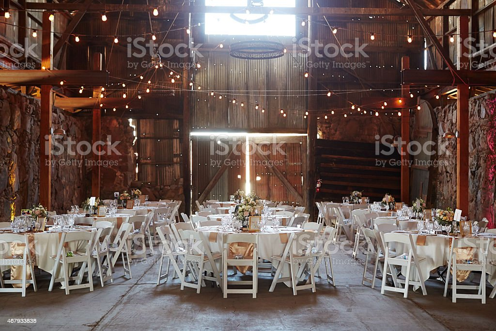 Barn Wedding stock photo