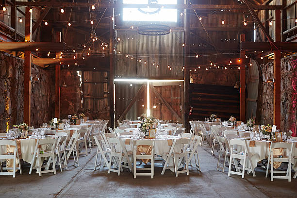 barn wedding - wedding stock photos and pictures