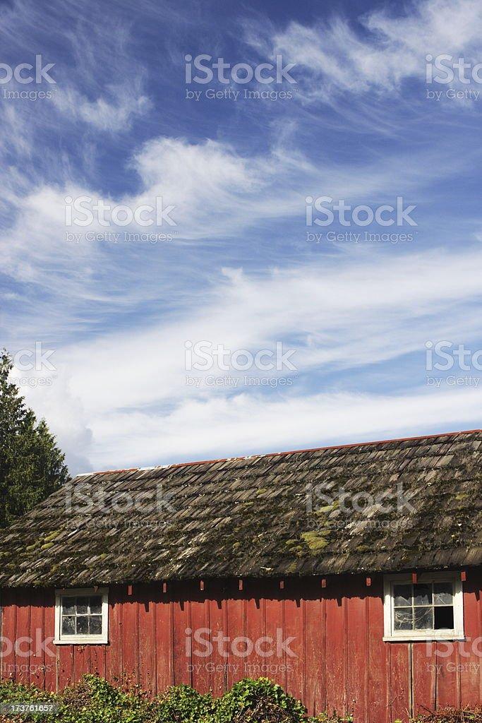 Barn Wood Shingle Farm Building Roof royalty-free stock photo