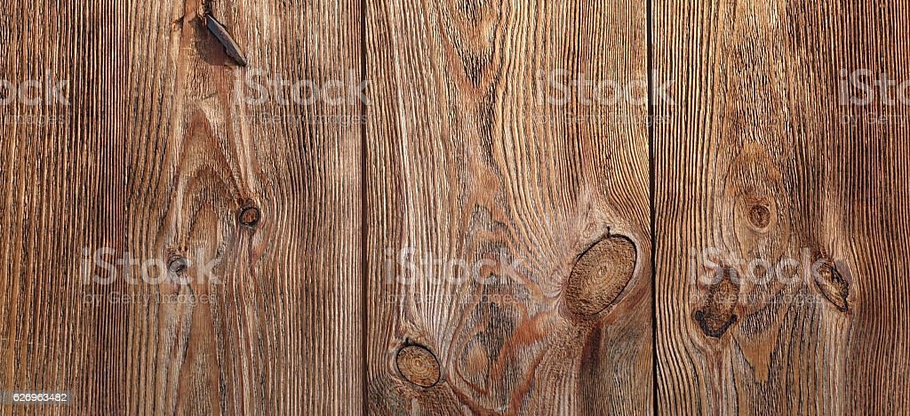 Barn Wooden Wall Planking Wide Texture. Horizontal Brown Wood Ba stock photo
