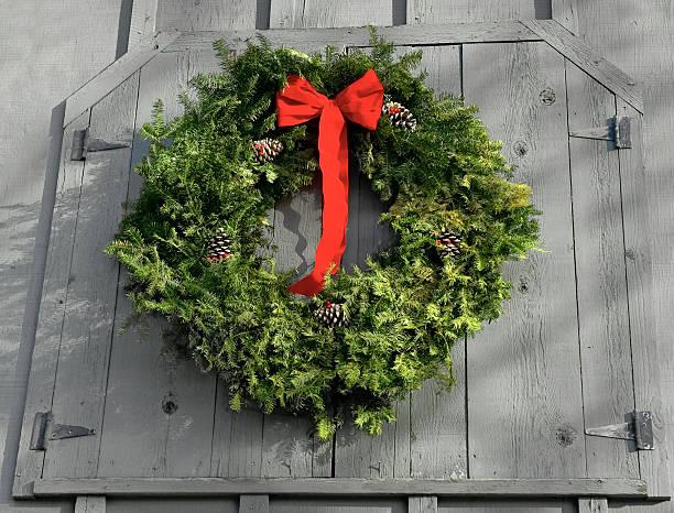 Barn Wreath stock photo