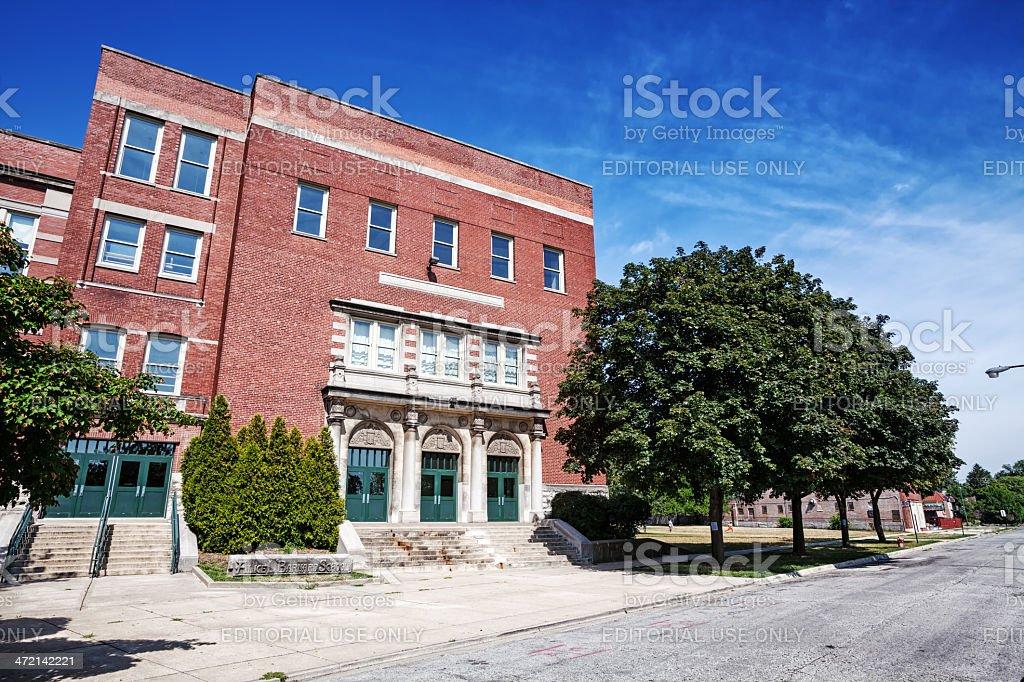 Barnard Elementary School, Beverly, Chicago royalty-free stock photo
