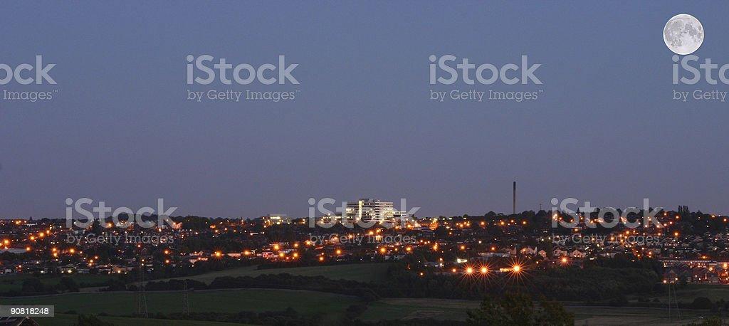 Barnsley at Night stock photo