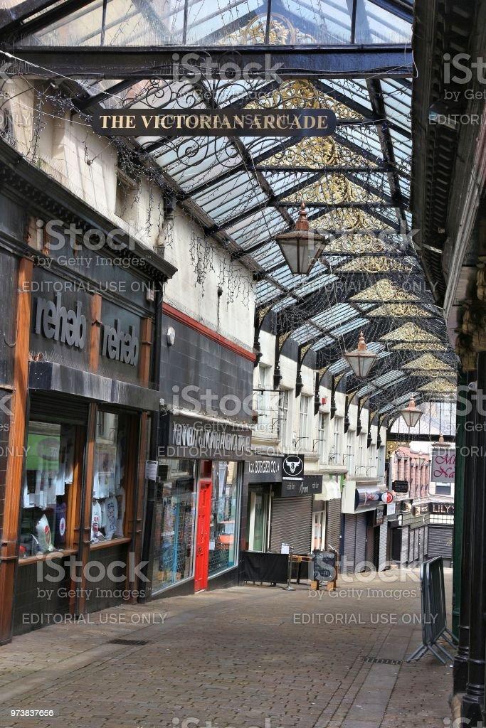 Barnsley Victorian Arcade stock photo