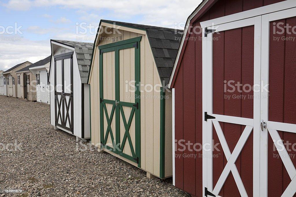 Barn-style Sheds stock photo