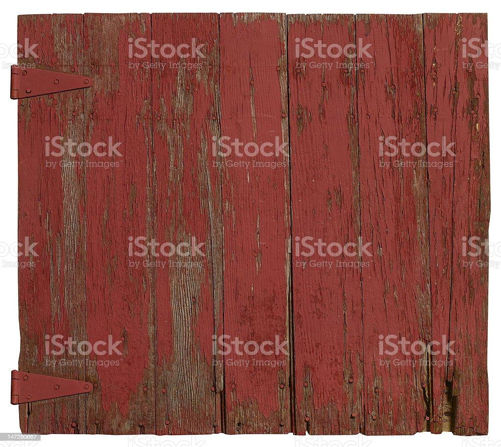 Barn-wood door stock photo