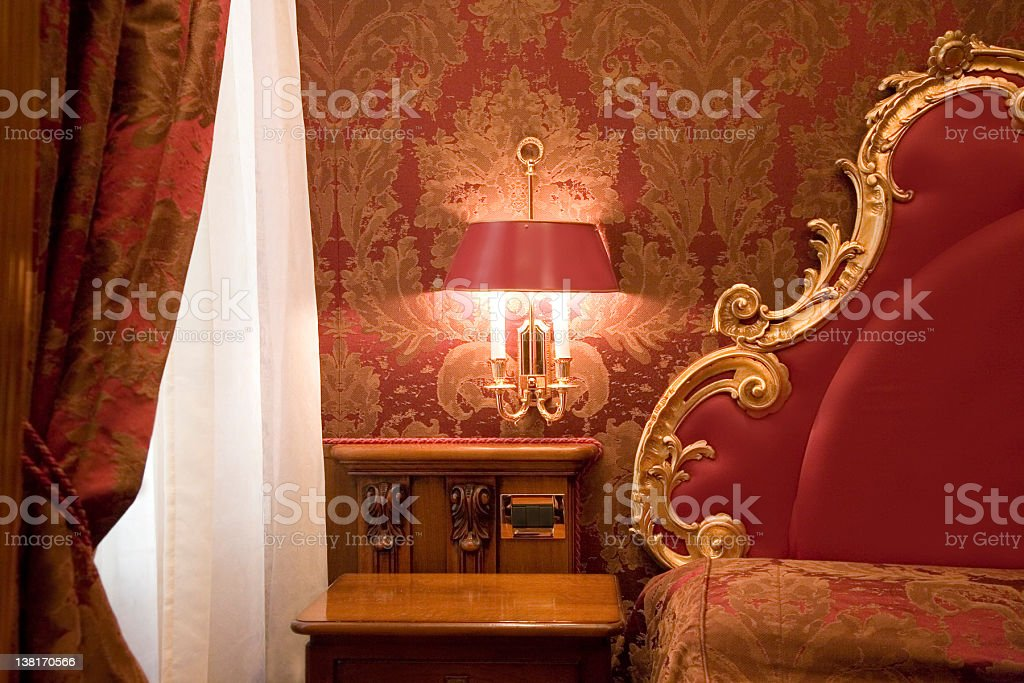 Barocco and Luxury Hotel Room royalty-free stock photo