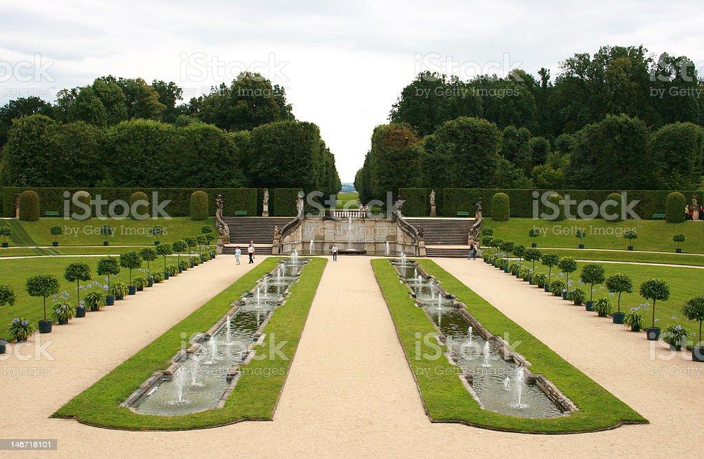 Barockgarten stock photo