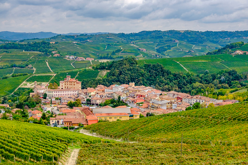 948424058 istock photo Barolo among its vineyards in the Langhe, a hilly area mostly based on vine cultivation and well known for the production of Barolo wine. Province of Cuneo, Piedmont, Italy 948421190