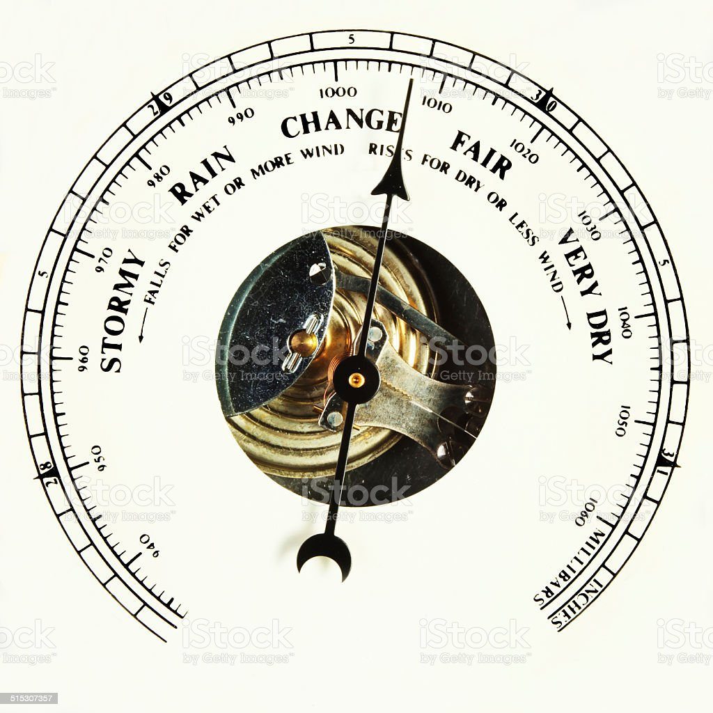 Barometer dial change stock photo
