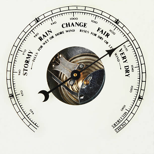 barometer dial very dry - barometer bildbanksfoton och bilder
