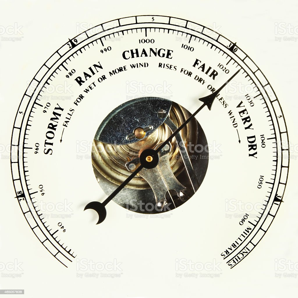 Barometer fair stock photo