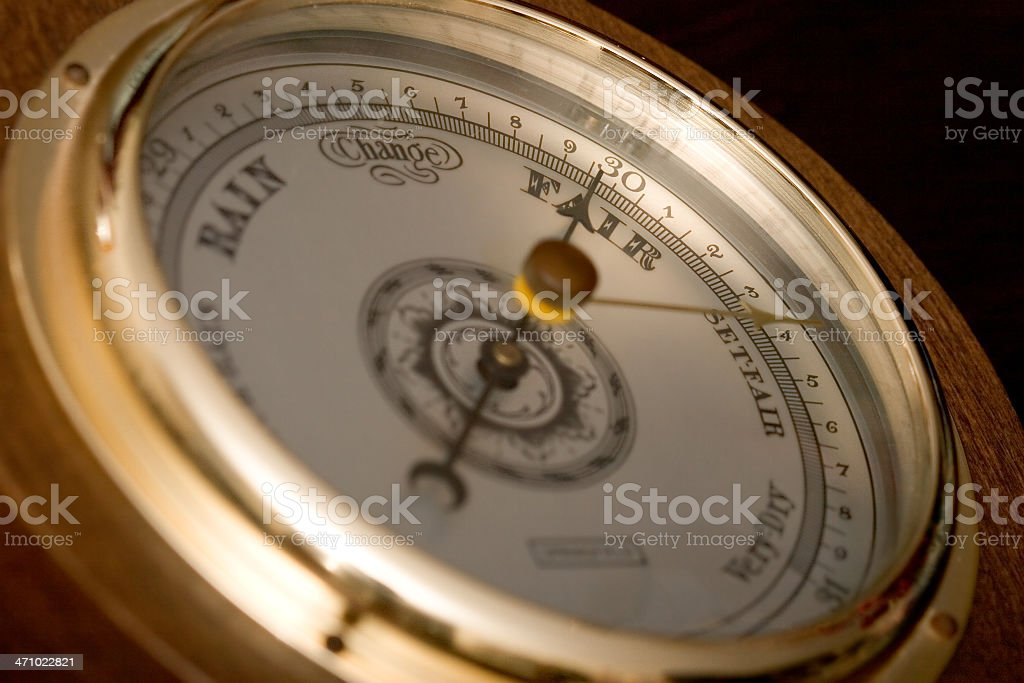 Barometer - Fair Weather stock photo