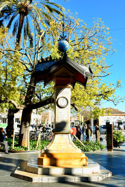 Barometer on the street in Palma de Mallorca stock photo
