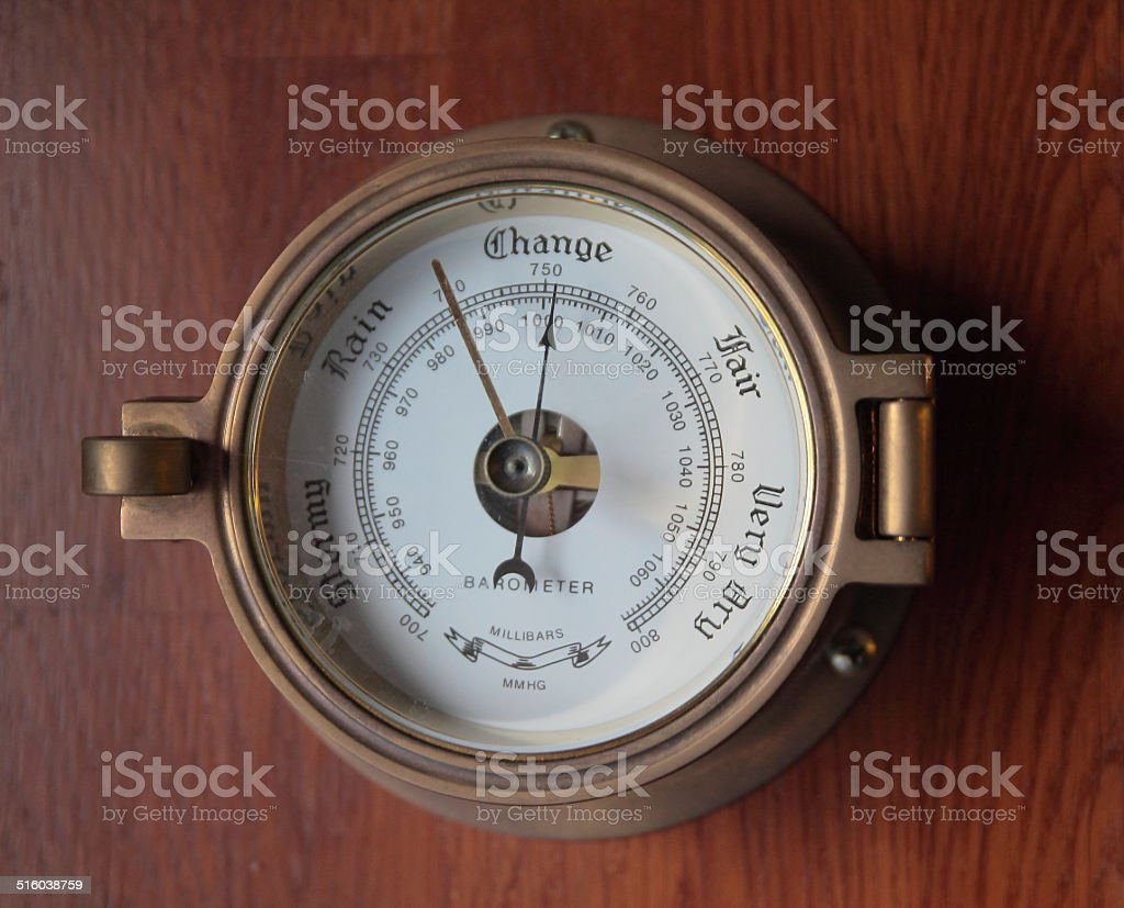 Barometer stock photo