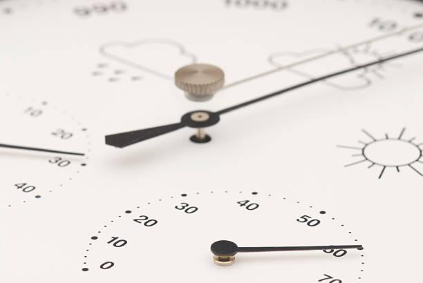 barometer with hygrometer and thermometer - barometer bildbanksfoton och bilder