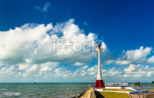 Baron Bliss Lighthouse in Belize City. Established in 1885